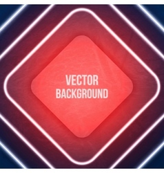 Geometric background neon lights grunge background vector
