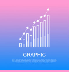 Graphic rising column chart and text under it vector