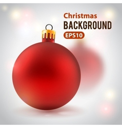 Holiday background with toy ball vector