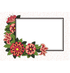 horizontal card cover for the book album vector image