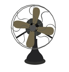 Isolated retro fan vector image