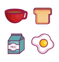 kawaii breakfast design vector image