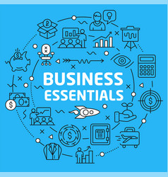 lines background business essentials vector image