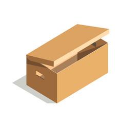 Minimalistic cardboard box vector