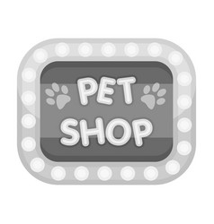Pet shop signpet shop single icon in black style vector