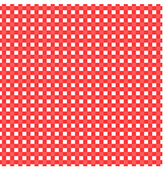 red and white checked tablecloth vector image vector image