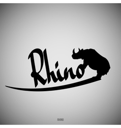 Rhino Calligraphic elements vector image