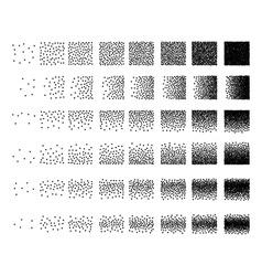 Set 48 triangle Stipple pattern for design Tile vector image