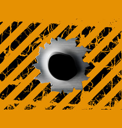 single bullet holes vector image