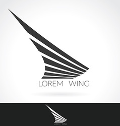 Wing abstract Logo template for flight company air vector image