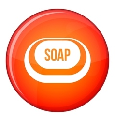 Soap icon flat style vector image