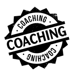 Coaching rubber stamp vector image