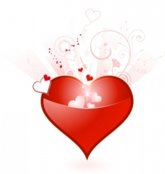 Valentine's Day heart vector image