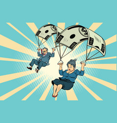 golden parachute financial compensation vector image