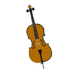 Isolated cello vector