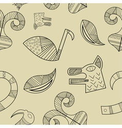 Seamless texture with elements of the animal style vector