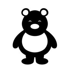 polar bear cute character vector image