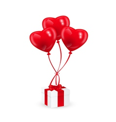 Baloons and gift vector