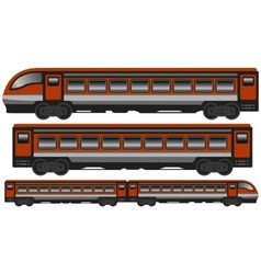 Isolated modern train vector