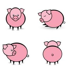 cartoon pigs vector image