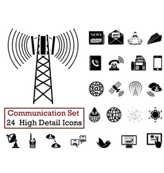 Icon set communication vector