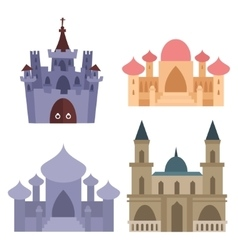Royal castle set vector