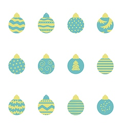 Christmas balls pattern 2 vector