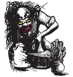 Potter creator clown - freehand vector