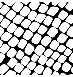 Seamless black and white pattern with paving stone vector