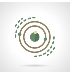Planet system model flat color icon vector