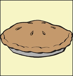 Baked pie vector