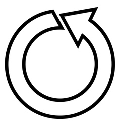 Rotate ccw stroke icon vector