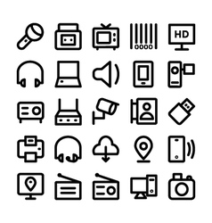 Communication Icons 10 vector image