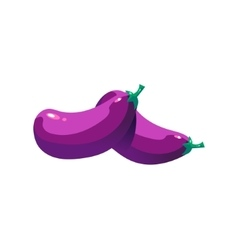 Eggplant Bright Color Simple vector image