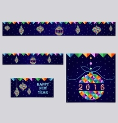 Set of 3 christmas banner and header vector
