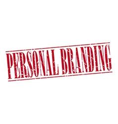 Personal branding red grunge vintage stamp vector