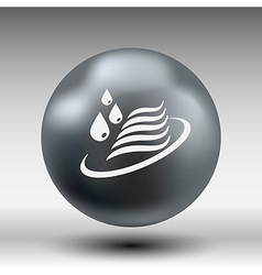 Abstract symbol of a water icon drop wave sign vector image vector image