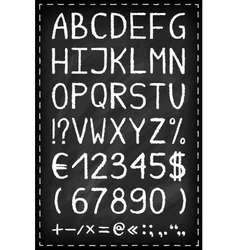 Alphabet on chalkboard vector image