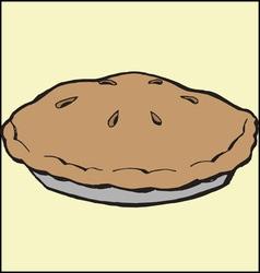 Baked pie vector