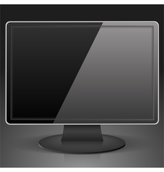 Black Computer Monitor vector image vector image