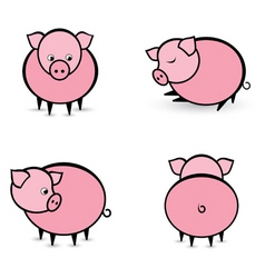 cartoon pigs vector image vector image