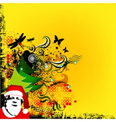 Christmas greeting card with Santa vector image vector image