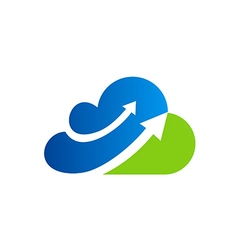 Cloud arrow business finance blue logo vector