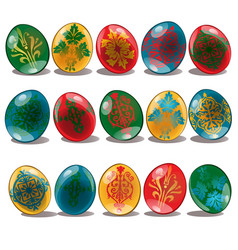 easter egg with ethnic and floral pattern isolated vector image vector image