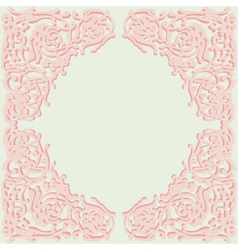 Exquisite frame doodle style vector