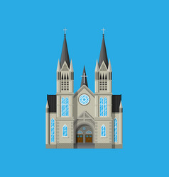 Exterior of catholic or protestant church vector