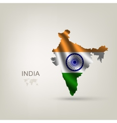 Flag of India as a country vector image vector image