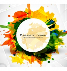 futuristic design grunge vector image vector image
