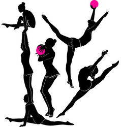 gymnast athlete vector image