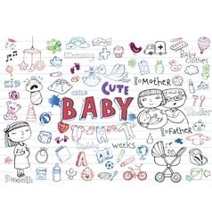 Infant Icon set vector image
